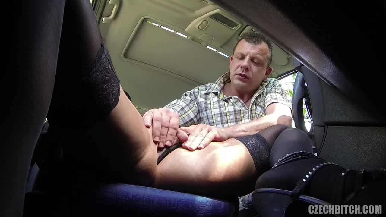 Водитель подобрал на дороге сексуальную попутчицу