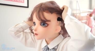 Японская рабыня в образе кугуруми из аниме