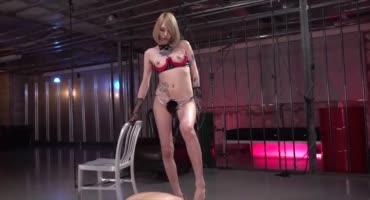 Полная доминирование над своим рабом от сексуальной японки