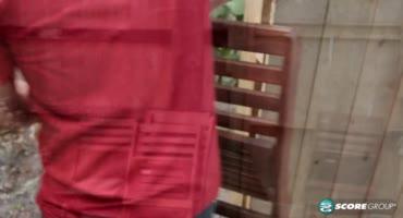 Горячая сисястая брюнетка соблазнила домашнего работника
