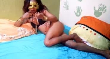Темнокожие любовники сняли на камеру частную порнушку