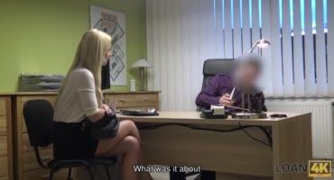 Стройная блондинка показала свои способности на кастинге