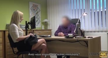 Блондиночка в офисе получила член в вагину