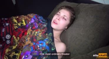 Девушка совсем нехочет в театр, а хочет трахаться с братишкой