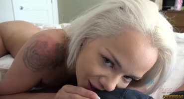 Девушка решила с утра повторить секс с парнем и стала отсасывать ему