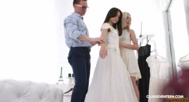 Невесты перед свадьбой захотели исполнить желание и заняться сексом втроем