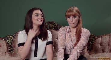Две подруги пробуют себя в жестком, групповом порно