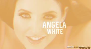 Angela White всё мало и она требует больше спермы на лицо