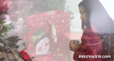 Мужик подсмотрел, как молодая парочка трахается на рождество