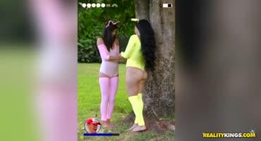 Ксандер Корвус трахает девицу в костюме покемона Пикачу