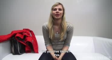 Чешская дамочка по имени Рената приехала на порно кастинг