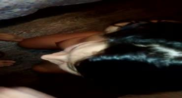 Пьяная проститутка из Питера сосала член со связанными руками