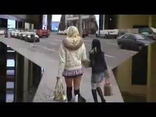 Погуляв по Берлину, молодые девки решили подрочить друг другу